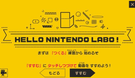 ニンテンドー ラボ Toy-Con VR Kit の作り方【練習編】(Switch画面のキャプチャ)
